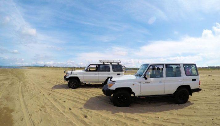 千里浜なぎさドライブウェイ&内灘海岸へランクル70ドライブ 片道500kmの旅