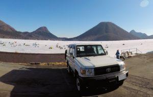 ランクル70と榛名富士