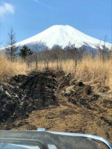北富士演習場での富士山