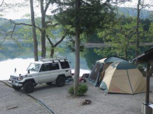ランクル70 でキャンプ