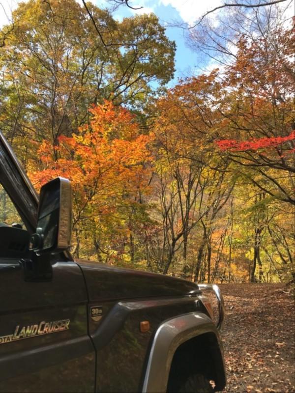 ランクル70で紅葉狩り2 秋鹿大影林道と四万温泉020