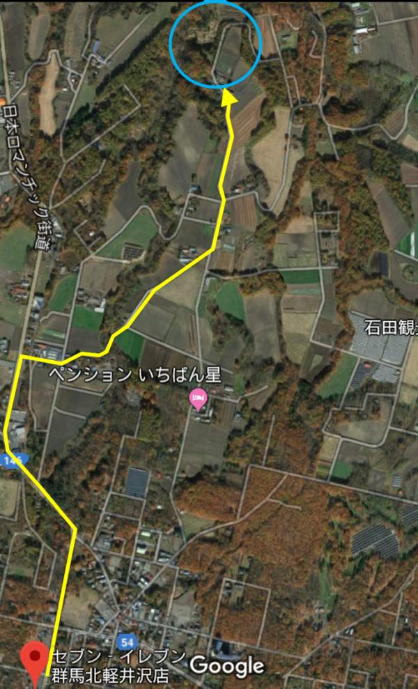 北軽井沢ナチュラルパーク配置図自作位置図
