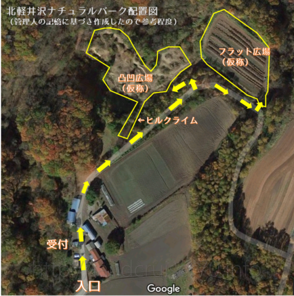 北軽井沢ナチュラルパーク配置図自作