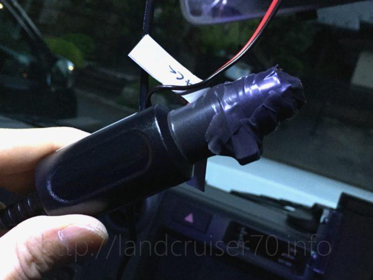 ランクル70にドライブレコーダー装着