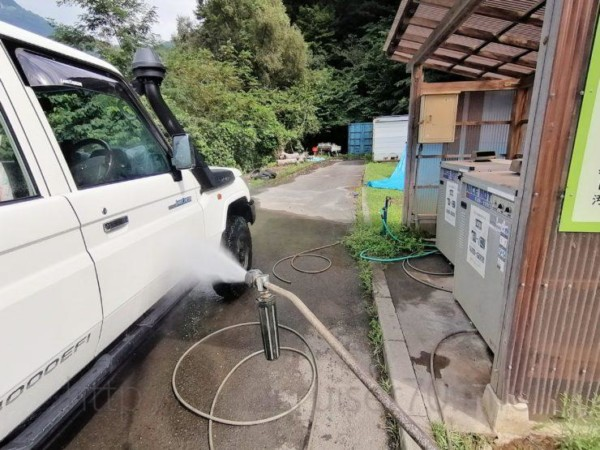 早川町オートキャンプ場の高圧洗浄機