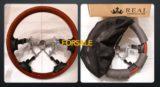 売却済【FORSALE】REAL ランドクルーザー70専用ステアリング(ライトブラウンウッド)中古美品 送料無料