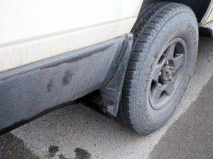 ランクル70で九州車中泊旅行の際の火山灰