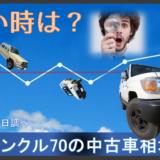 買い時は?再販ランクル70の中古車価格情報(2018年7月1日調べ)