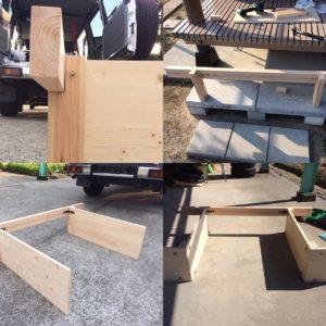 ランクル70荷台木製ベッドDIY