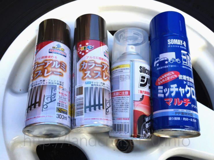 ランクル70 のホイール塗装&スタッドタイヤ装着