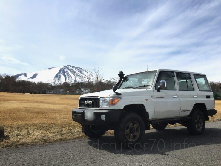 浅間山とランクル70