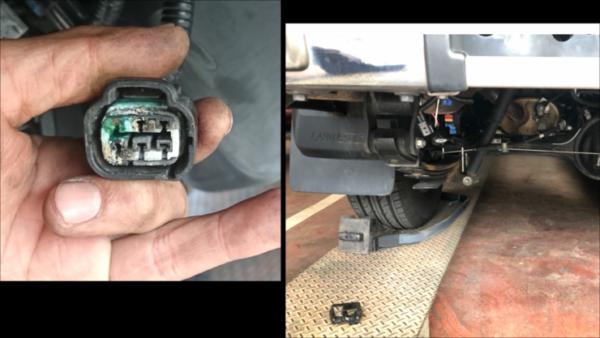 ランクル70の燃料ポンプへの配線腐蝕