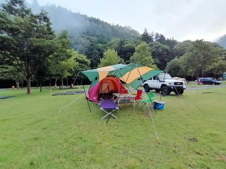 ランクル70×早川町オートキャンプ場