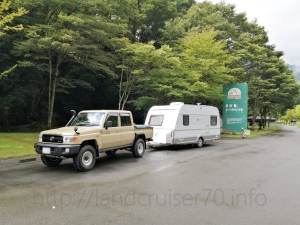 005ランクル70×早川町オートキャンプ場