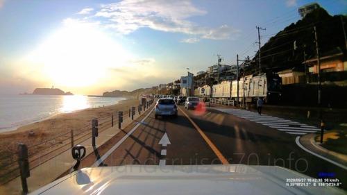 気持ちいい夕方の海沿いランクル70ドライブ(動画あり)