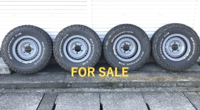 値下げ【FOR SALE】ランクル79ピックアップ(GRJ79K)純正リングホイール&タイヤ 4本セット