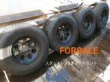 売却済【FOR SALE】ランクル76用スタッドレス(DUNLOP SJ8)&美品ホイール 4本セット