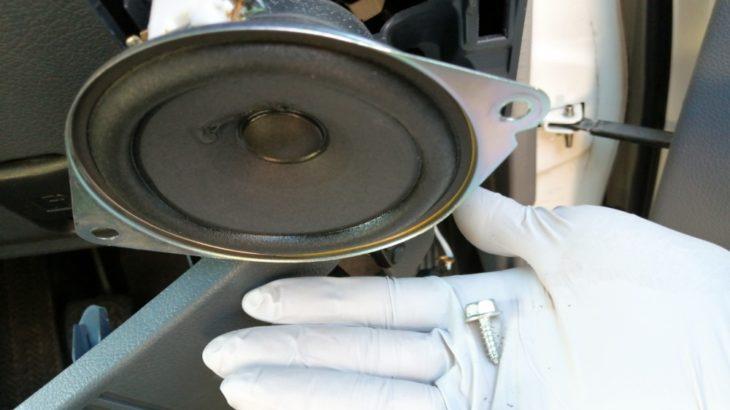 トレードインスピーカーDIY取付けでランクル70の音響改善(フロント)