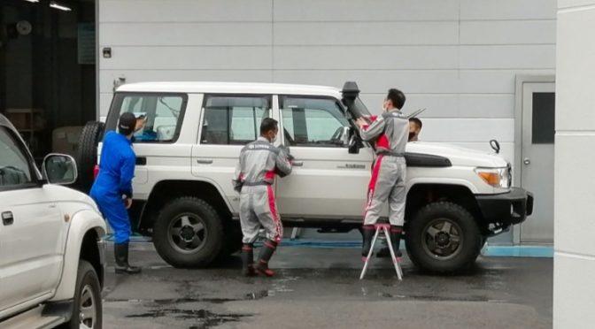ディーラーでエンジンオイル交換&無料洗車&ワックス&ワイパーゴム交換