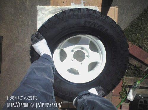 ランクル70のタイヤ&ホイール手組み(ジオランダーMT285/75R16) by↑矢印さん